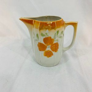 Vintage Cream Pitch Germany Orange Flower